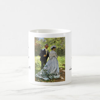 Alumerzo en la hierba Claude Monet Taza De Café
