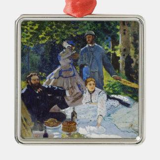 Alumerzo en la hierba, panel central Claude Monet Adorno Navideño Cuadrado De Metal