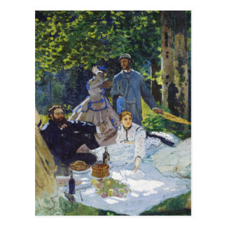 Alumerzo en la hierba panel central Claude Monet Tarjeta Postal