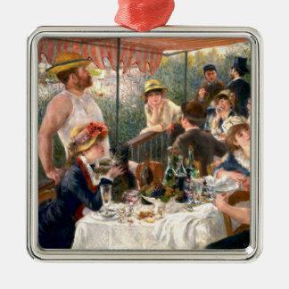 Alumerzo francés de Renoir en el fiesta del Adorno Navideño Cuadrado De Metal