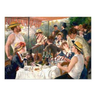 Alumerzo francés de Renoir en el fiesta del Invitación 11,4 X 15,8 Cm