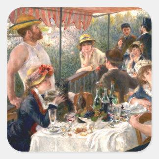 Alumerzo francés de Renoir en el fiesta del Pegatina Cuadrada