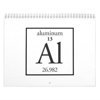 Aluminio Calendario