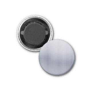 Aluminio cepillado brillante texturizado imán redondo 3 cm
