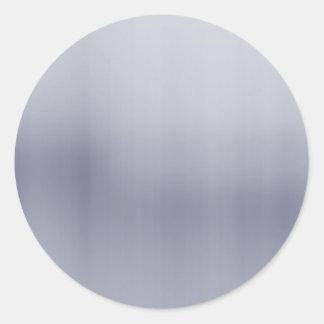 Aluminio cepillado brillante texturizado pegatina redonda