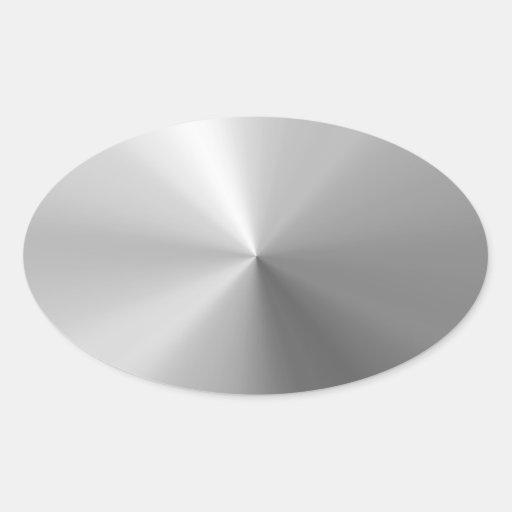 Aluminio cepillado circular texturizado calcomanías de ovales