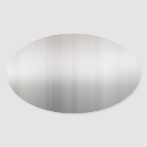 Aluminio cepillado con clase calcomanía óval