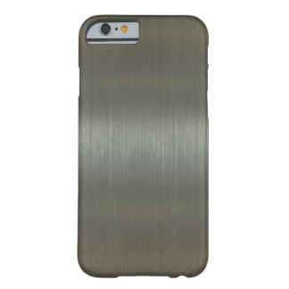 Aluminio cepillado funda de iPhone 6 slim