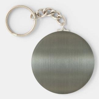 Aluminio cepillado llavero personalizado