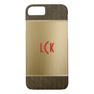 Aluminio cepillado oro con el puré metálico funda iPhone 7