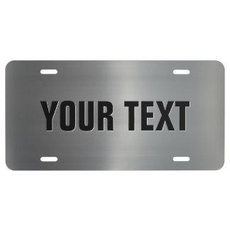 Aluminio cepillado placa de matrícula
