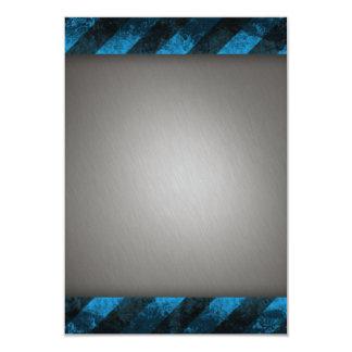 """Aluminio cepillado plata rayada invitación 3.5"""" x 5"""""""