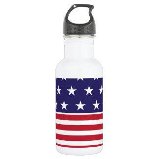 Aluminio de la bandera americana botella de agua