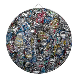 Aluminum Cans Being Recycled Dart Board