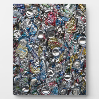 Aluminum Cans Being Recycled Plaque