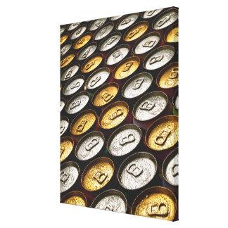Aluminum cans canvas print