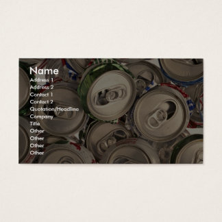 Aluminum cans, recycled business card