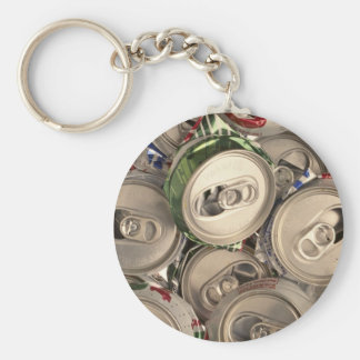 Aluminum cans, recycled keychain