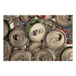 Aluminum cans, recycled posters