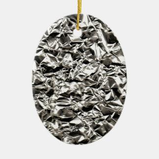 Aluminum Crinkle Ceramic Ornament