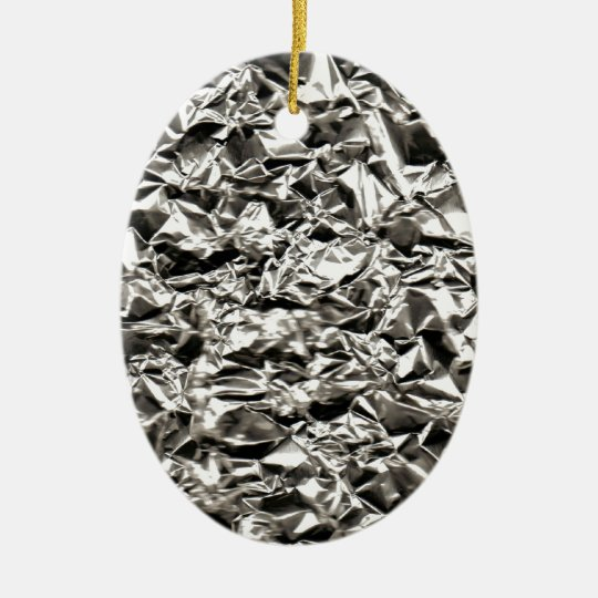 Aluminum Crinkle Ceramic Ornament