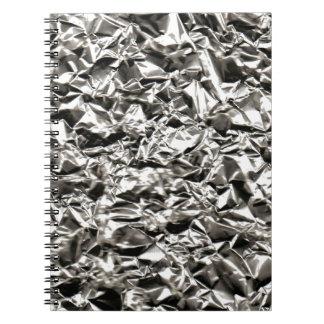 Aluminum Crinkle Notebook