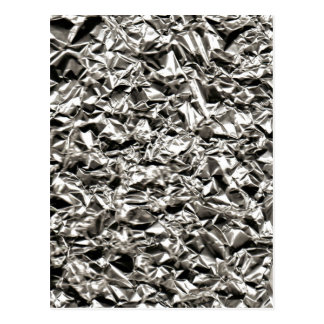 Aluminum Crinkle Postcard