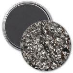 Aluminum Foil Print 3 Inch Round Magnet