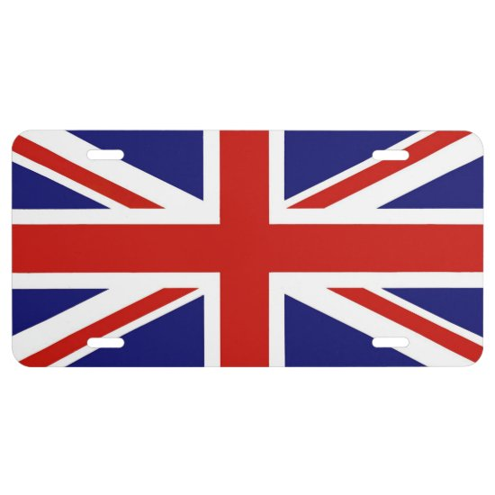 Aluminum License Plate/British Flag License Plate