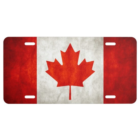 Aluminum License Plate/Canadian Flag License Plate