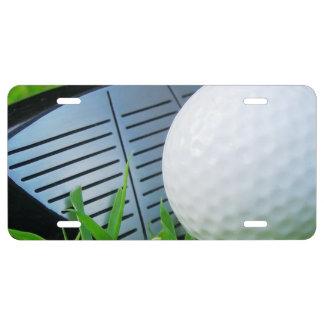 Aluminum License Plate/Golf License Plate