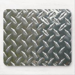 Aluminum Metal Checkerplate Mouse Pad
