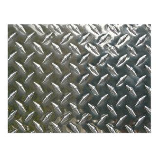 Aluminum Metal Checkerplate Postcard