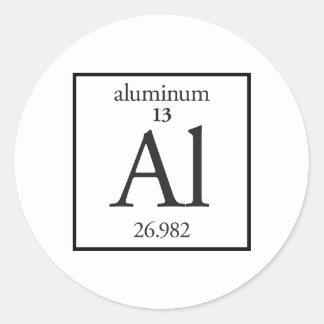 Aluminum Classic Round Sticker