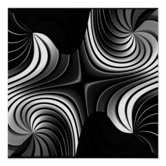 aluminum stripes abstract poster