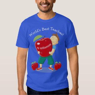 Alumno personalizado con profesor del mundo de camisas