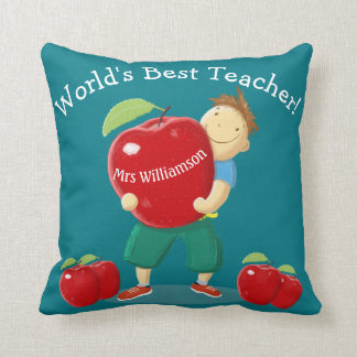 Alumno personalizado con profesor del mundo de cojines