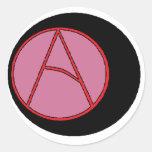 Alumnos ateos 8-Ball Etiquetas Redondas