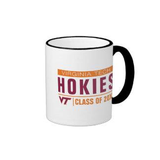 Alumnos de Hokies de la tecnología de Virginia Taza De Dos Colores