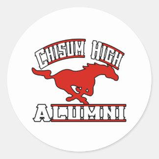 Alumnos de los mustangos de Chisum Pegatinas Redondas