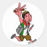Alumnos de Palestina Pegatina Redonda