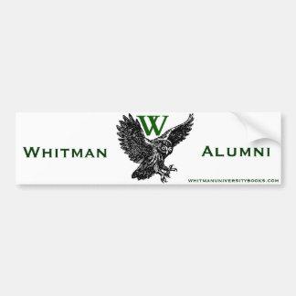 Alumnos de Whitman U Etiqueta De Parachoque