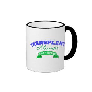 Alumnos del trasplante - beneficiario del riñón taza de dos colores
