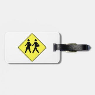 Alumnos que cruzan, señal de tráfico, Canadá Etiquetas Maletas