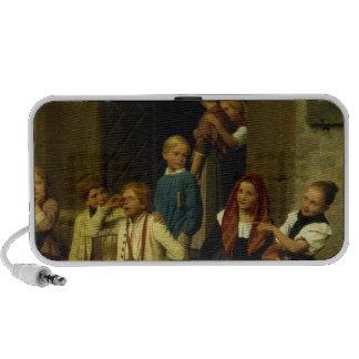 Alumnos que miran a un muchacho llorar, 1861 iPod altavoces