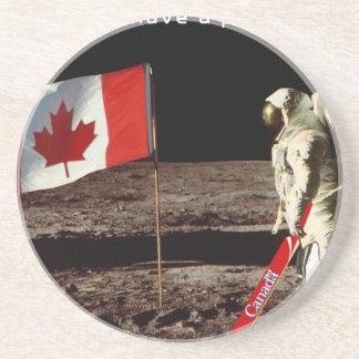 Alunizaje canadiense posavasos diseño
