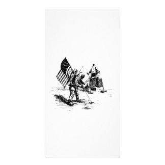 Alunizaje de Estados Unidos Tarjetas Fotograficas Personalizadas