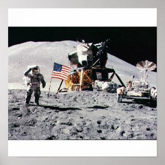 Alunizaje del espacio poster