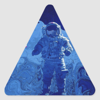 Alunizaje Pegatina Triangular