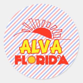 Alva, Florida Classic Round Sticker